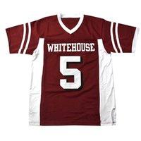 Custom Retro Patrick Mahomes Whitehouse Lycée Jersey Homme Football Jersey Toutes le maillage vintage cousu N'importe quel nom