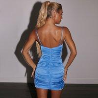 Sling plissado apertado-montagem lace-up curta saia mulheres sexy nightclub vestido de verão estilo cabraiman oficial s 7kzb