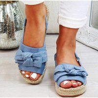Yaz Rahat Papyon Bayan Sandalet Toka Kayış Flats Sandalet Ayakkabı Kadın Katı Renk Peep Toe Sandalias Mujer 698 E3QC #