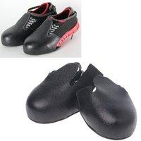 신발 액세서리 신발 덮개 1Pair 고품질 방수 작업장 안전 안티 스매시 커버 휴대용 라이트 방문자 철강 발가락 캡