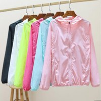 Women's Trench Coats Summer Sunscreen Clothing Women Long Sleeve Thin Coat Ladies UV Protection Hooded Breathable Outdoor Shirts W83