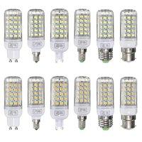 전구 E27 / E14 / E12 / B22 / G9 / GU10 디 밍이 가능한 LED 전구 6W AC220V 화이트 / 따뜻한 화이트 60 SMD 5730 옥수수 조명 램프