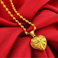 Nansha-gold lucky transfer bead plated 18K-gold set chain rose pendant love gold necklace women colorfast [Store Opening]