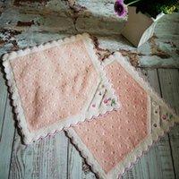 여성 손수건 고품질 부드러운 면화 kerchief 일본 손 디자인 25 * 25cm 포켓 사각형 작은 스카프 빈티지 hankies ahc6498