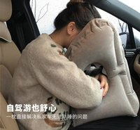 Seat Cushions Car Pillow Inflatable Air Cushion Travel Headrest Chin Support For Airplane Plane Office Rest Neck Nap