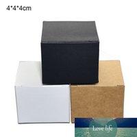 4x4x4cm 3 Colorato Kraft Packaging Box Pieghevole FACE Crema per il viso Imballaggio scatole di cartone regalo del pacchetto del regalo del pacchetto DIY 50pcs / lot