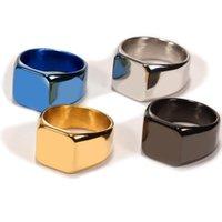 Обручальные кольца FDLK Мода гладкие мужские кольцо из нержавеющей стали ширина ширины знамена