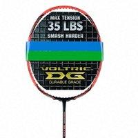 Badminton Racket quality carbon racket 28 LBS FkvY#