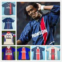 Retro Paris 98 93 95 03 Trikots 10 Ronaldinho 11 Chulapa 9 Cardetti Fußball Ibrahimovic cavani okocha leroy weah susic calcio fußball mbappe