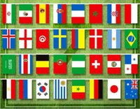 Banner Flags Russia World Cup 32 String flag 14x21cm Country Bar Home Football Soccer Fan Party Decoration GYH CWXR