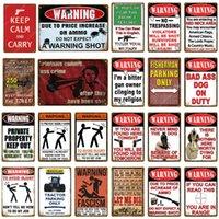 Signes d'avertissement de peinture en métal Signes d'avertissement Pas d'intrusion Affiche Vintage mural Art Art Plate Plaque pour Pub Bar Club Cafe El Accueil Decor