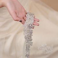 Trixy S402 Luxus Indische Silk Schmuck Gürtel Braut Gürtel Für Frauen Hochzeit Gürtel Kristall Brautschärpe Hochzeitskleid Gürtel für Mädchen