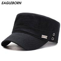 Large fronzée Chapeaux Eagleborn Hommes chapeau Capitaine US Army Cap Navy Womens Haute Qualité au printemps Automne Gaz Hole