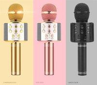 WS858 microphone de poche Bluetooth sans fil KTV 858 microphone avec haut-parleur microfono microfono haut-parleur portable karaoké