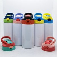 12OZ Sippy Cups Kids Sublimation Tumblers Stainless Steel Water Bottles Double Insulated Vacuum Drinking Mugs