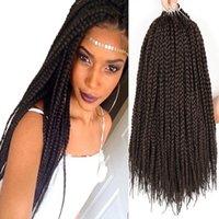 Free Shipping 1Packs/Lot 3X Box Braids Crochet Hair 18 Inch 1cm in Diameter Synthetic Braiding Hair Extensions Crochet Braids Hair (4#)