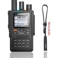 Walkie Talkie Abbree AR-F8 GPS High Power Alle Bands (136-520MHz) Frequenz / CTCSS-Erkennung 1.77 LCD 999CH 10km langer Bereich