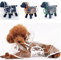 الكلب المعطف تغطية كاملة واضح المعطف الكلب معاطف الملابس الملابس المياه ressistant سترة المطر دعوى الصوف مع هوديي GWC4619