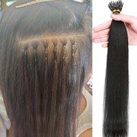 Mänskliga hårslager Nano Ring Extension Machine gjorda silkeslen raka brasilianska remy förlängningar Naturlig färg kan färgas 1g / sträng
