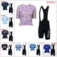 Maap Team 2020 Verão Respirável Lady Ciclismo Mangas Curtas Jersey Bib Shorts Conjuntos confortáveis MTB esportes desgaste A62433