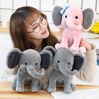 Mediazas originales de la hora de acostarse Choo Choo Expreso Juguetes de peluche Elefante Humphrey suave relleno de peluche de peluche para niños Cumpleaños Día de San Valentín presente