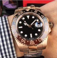 Super BP Factory V2 Qualidade ETA 40mm Assista GMT Batman Cerâmica 18k Gold Cal.2813 Movimento Mens Mens Relógios