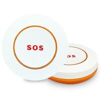 أنظمة الإنذار 2PCS اللاسلكي SOS زر الطوارئ للمساعدة نظام GSM