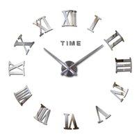 Orologio al quarzo di moda Home Decor Limited 3D Big Mirror FAI DA TE Vero orologio da parete Reale Design moderno Regalo X0705