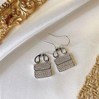 Fashion lady Diamond bag Earrings imitation Jewelry Mini Luxury Ear Studs for women Jewelry Earring Designer Metal Design Earrings Lover Earing womens Gift Earing