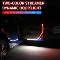 New Car Door Opening Warning LED Lights Strips Anti Rear-end Collision Safety Light Welcome Flash Lights Universal Car Light