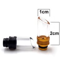 Top Quality 510 Drip Tip Pyrex Glass Stainless Steel Vape Mouthpiece For E Cigarette Melo BSKR Berserker RDA RTA Tank Atomizer