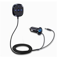 Handsfree Bluetooth Car Kits Aux Adapter For Cars Automobiles Wireless Stereo Speakerphone MP3 Music Player With 2.1A USB Cell Phone Charger 3.5mm Jack