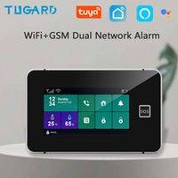 Tugard Tuya WiFi WiFi Home Security GSM Système d'alarme GSM Smart Life Alexa APP Control avec détecteur de capteur de mouvement 433MHz