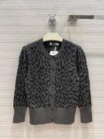 2021 Milan Runway Sweater O Neck Long Sleeve Women's Sweater High End Jacquard Cardigan Women Designer Sweater 0613-4