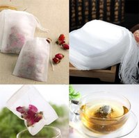 Empty Teabags 100Pcs Lot Tea Bags String Filter Non-woven Teabag 6 x 8CM for Tea Coffee 11 V2
