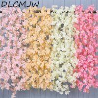 180 cm flor artificial videira seda flor de cerejeira plástico videira para jardim decoração home flor artificial falso