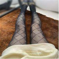 Designer Classic Lettre Circle Cercle Point Femmes Sexy Robe Siltille Nuit Club Pantyhose Femelle Slim Bas