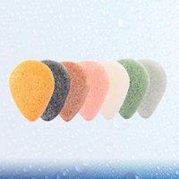 7 unids konjac cara soplo maquillaje eliminación de hojaldros esponjas cara lavado limpieza esponja