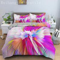 Bedding Sets Designer Rainbow Tie Dyed Duvet Cover Set Comfortable Queen Home Textiles Kids Boys Comforter