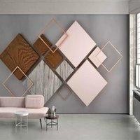 Fonds d'écran Dropits personnalisé 3D Mural Stéréoscopique Salon géométrique à la chambre Chambre à coucher Télévision Sofa Fond d'écran