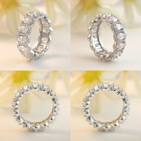 Designer crystal CZ stone fashion luxury couple 925 sterling silver women's men's ring accessories
