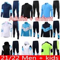 Milik Payet Training Suit 21 22 Mandanda Guendouz Polo Jaqueta de futebol com capuz Maillot de pé Gerson Kamara Konrad Harit Survection Futebol Futebol Conjuntos