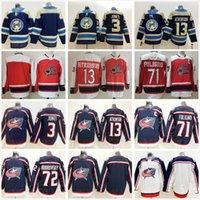2021 Nuevo Retro Retro Columbus Blue Jackets Seth Jones Cam Atkinson Sergei Bobrovsky Nick Foligno Red Azul Blanco Costada Hockey Jerseys