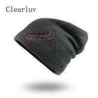 Шапочки 2021 мода вязаные шляпы падение шляпа мужская зимняя густая и теплый капот черепочки мягкий хлопок1