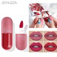 Lip Gloss 18 colori opaco mini forma glassa di velluto umidità duratura impermeabile antiaderente tazza fluido rossetto
