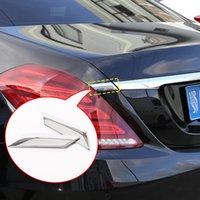 2 ADET ABS Krom Araba Kuyruk Şeritler Sequins Trim Sticker Mercedes Benz S sınıfı için W222 2014-2018 Araba Styling Aksesuarları