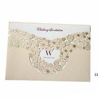 Casar com cartão de convite escavando cartões casamento casamento decorar suprimentos foto criativa cartão especial hwe9407