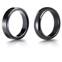 Hematite Ring for Women Men Non-magnetic Natural Stone Finger Rings High Quality Black Jewelry for Lovers