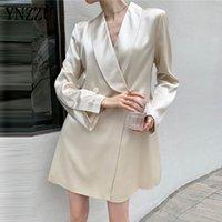 Mode Frauen Frühling Acetat Blazer Kleid 2021 Neue Lose Langarm Weibliche Fleckenjacke Mantel Office Damen Elegante YNZZU 1O022