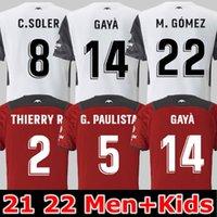 21 22 camisas de futebol valência 2021 CRIANÇAS EM CASA GUEDES GAMEIRO Florenzi RED WHITE camisetas de futbol RODRIGO M. Gomez Men JERSEY kit football shirts